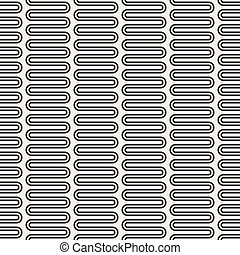 Vector seamless pattern. Black and white version