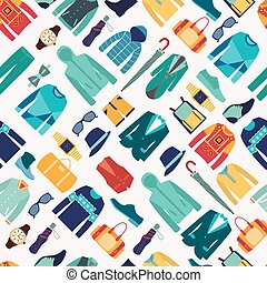 seamless pattern fashionable mens wear background