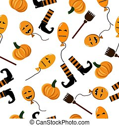 Vector seamless pattern for halloween.