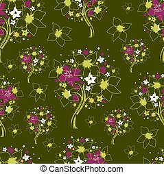 Vector seamless pattern from trees