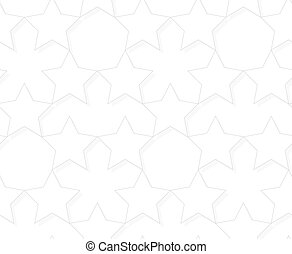 Vector seamless pattern - geometric light star background