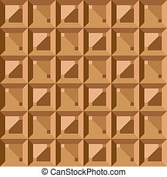 Vector seamless pattern - geometric vintage square texture. The polygonal brown graphic background