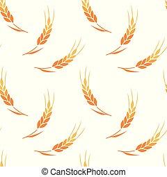 Vector seamless pattern illustration ears of wheat.