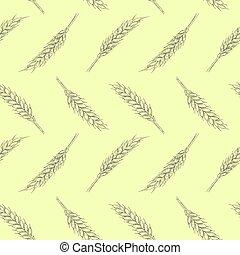 illustration ears of wheat
