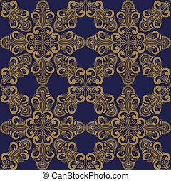 vector seamless pattern in eastern style, seamless pattern ...