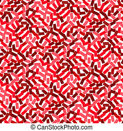 Vector seamless pattern in hipster style in red - Vector...