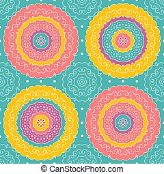 Vector seamless pattern in indian style.
