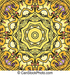 Vector seamless pattern in mandala style