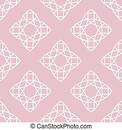 Vector seamless pattern in trendy linear style.