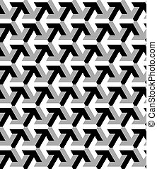 Vector seamless pattern made with arrow - Black and white, ...