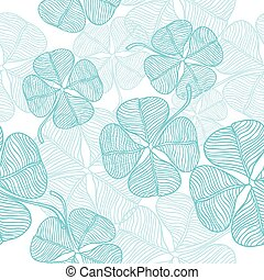 Vector seamless pattern of abstract clover