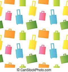 Vector seamless pattern of baggage