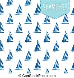 Vector seamless pattern of blue