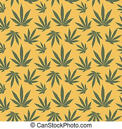 vector seamless pattern of cannabis leaf. seamless pattern...