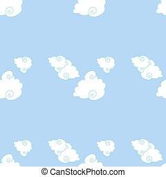 Vector seamless pattern of clouds