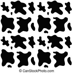 Vector seamless pattern of cow fur print