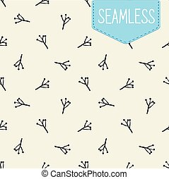 Vector seamless pattern of easy