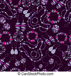seamless pattern of fashion jewelry - Vector seamless...