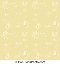 Vector seamless pattern of fruit