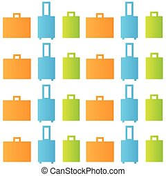 Vector seamless pattern of luggage