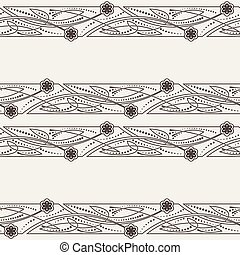Vector seamless pattern of ornaments in Celtic style