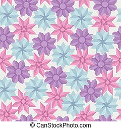 Vector seamless pattern of paper origami flowers