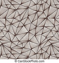 Vector seamless pattern of polygonal lines in a network