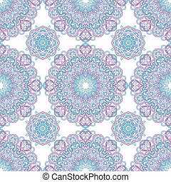 vector seamless pattern of round abstract mandalas