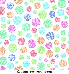 vector seamless pattern of round colorful circles