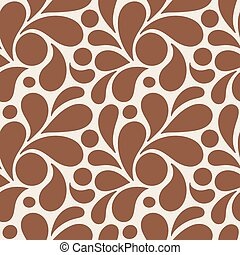 Vector seamless pattern of stylized petals