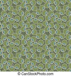 Vector seamless pattern of stylized olive