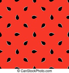 Vector seamless pattern of watermelon
