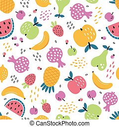 vector seamless pattern on a white background