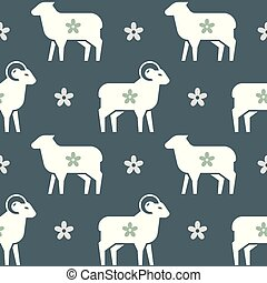 Vector seamless pattern on the theme of farming, sleep and so on.