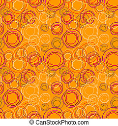 Vector seamless pattern - rings on an orange background