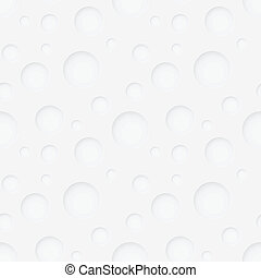 Vector seamless pattern - round holes in white paper