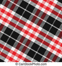 vector seamless pattern Scottish tartan 3, black, white,...