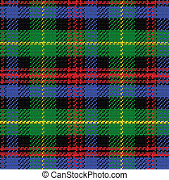 vector seamless pattern Scottish tartan Black Watch, black,...