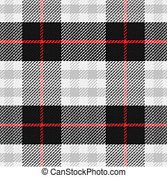 vector seamless pattern Scottish tartan, black, white, gray,...