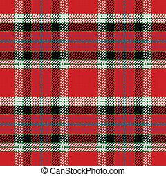 vector seamless pattern Scottish tartan, black, white, blue,...