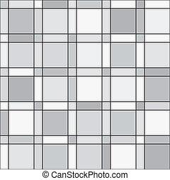 Vector seamless pattern - squares geometric monochrome simple ba
