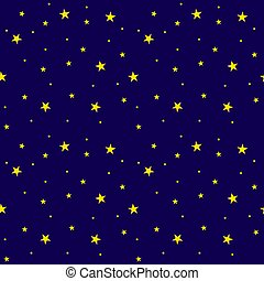 Vector Seamless Pattern: Starry Sky, Bright Colors.