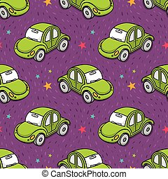 Vector seamless pattern toy car