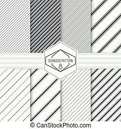 Vector seamless pattern - Vector set seamless pattern with...