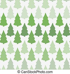 Vector seamless pattern with abstract christmas tree