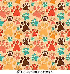 Vector seamless pattern with animal