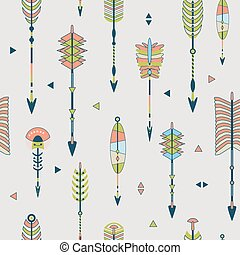 Vector seamless pattern with arrows
