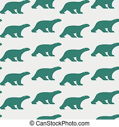 Vector seamless pattern with bear on white background. wallpaper