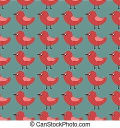 vector seamless pattern with beautiful animal birds