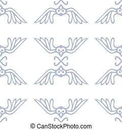 vector seamless pattern with birds